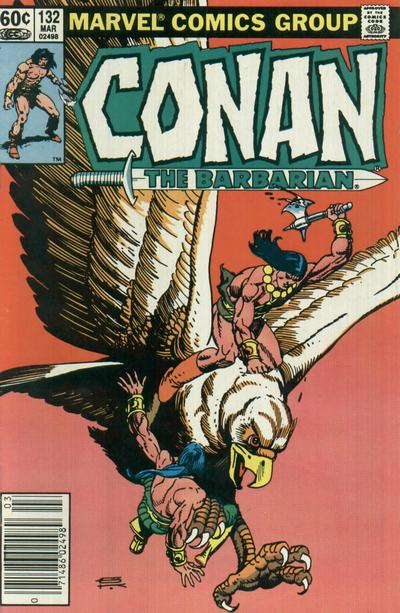 Cover for Conan the Barbarian (Marvel, 1970 series) #132 [Direct Edition]