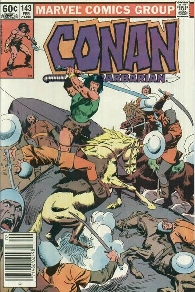 Cover for Conan the Barbarian (Marvel, 1970 series) #143 [Direct Edition]