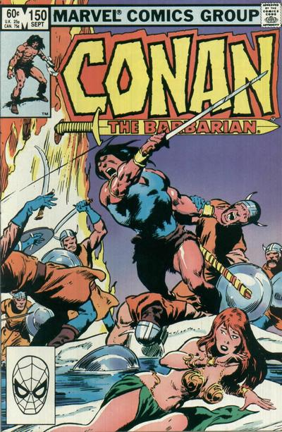 Cover for Conan the Barbarian (Marvel, 1970 series) #150 [Direct Edition]