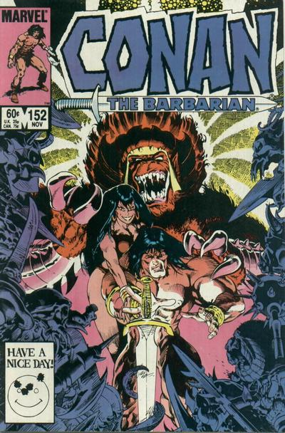 Cover for Conan the Barbarian (Marvel, 1970 series) #152 [Newsstand Edition]