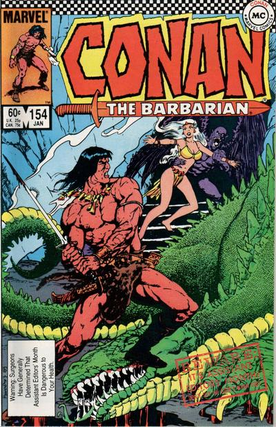 Cover for Conan the Barbarian (Marvel, 1970 series) #154 [Direct Edition]