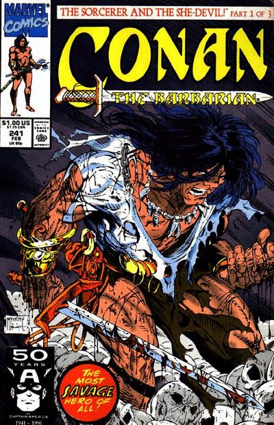 Cover for Conan the Barbarian (Marvel, 1970 series) #241 [Direct]