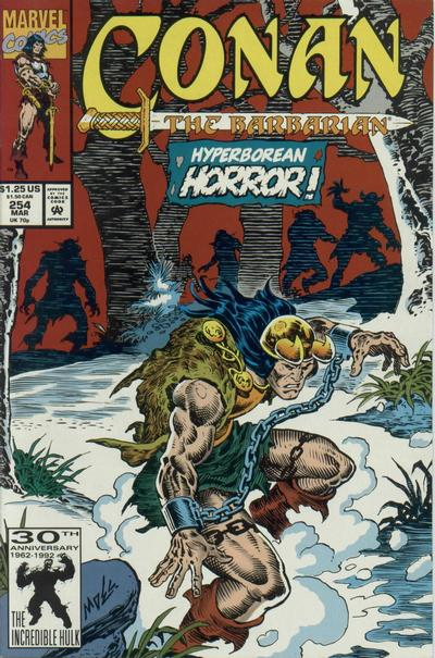 Cover for Conan the Barbarian (Marvel, 1970 series) #254 [Direct Edition]