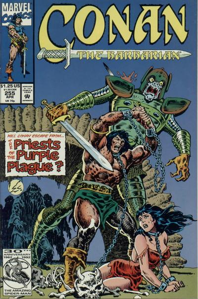 Cover for Conan the Barbarian (Marvel, 1970 series) #255 [Direct Edition]