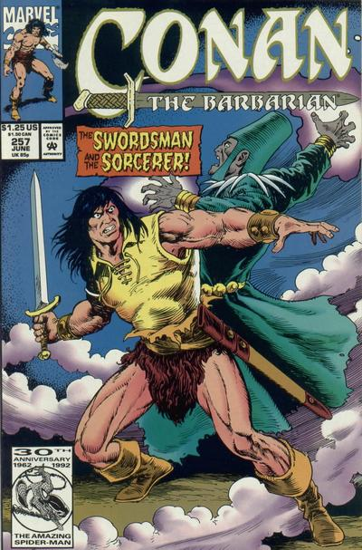 Cover for Conan the Barbarian (Marvel, 1970 series) #257 [Direct Edition]