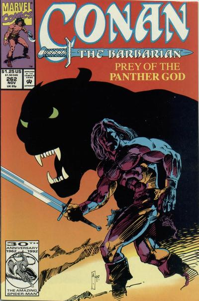 Cover for Conan the Barbarian (Marvel, 1970 series) #262 [Direct Edition]