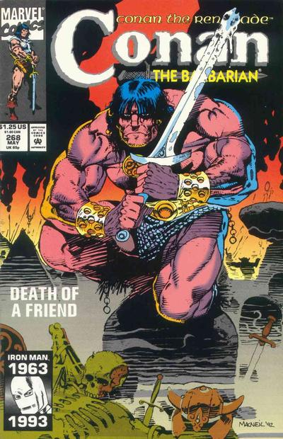 Cover for Conan the Barbarian (Marvel, 1970 series) #268 [Direct Edition]