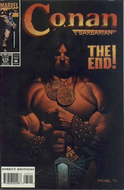 Cover for Conan the Barbarian (Marvel, 1970 series) #275 [Newsstand]