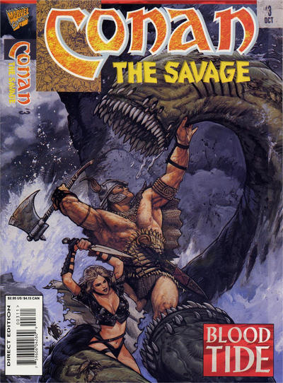 Cover for Conan the Savage (Marvel, 1995 series) #3