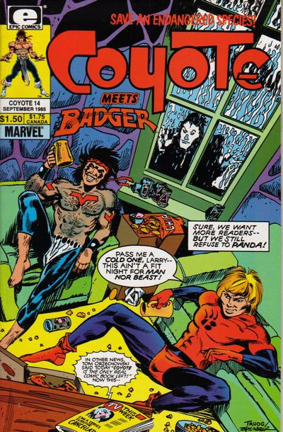Cover for Coyote (Marvel, 1983 series) #14