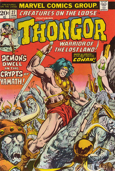 Cover for Creatures on the Loose (Marvel, 1971 series) #27