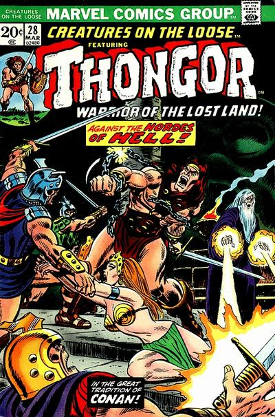 Cover for Creatures on the Loose (Marvel, 1971 series) #28
