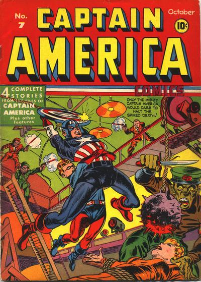 Cover for Captain America Comics (Marvel, 1941 series) #7