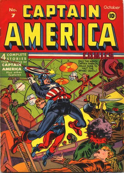 Cover for Captain America Comics (Marvel, 1941 series) #7
