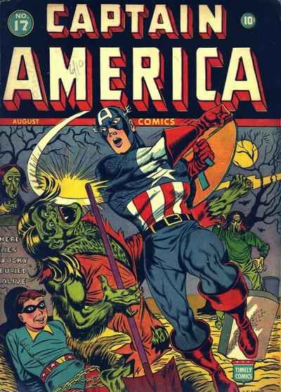 Cover for Captain America Comics (Marvel, 1941 series) #17
