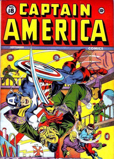 Cover for Captain America Comics (Marvel, 1941 series) #18