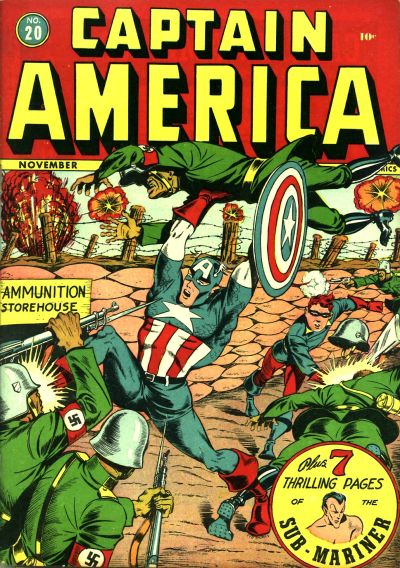 Cover for Captain America Comics (Marvel, 1941 series) #20
