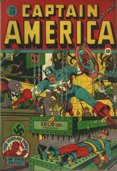 Cover for Captain America Comics (Marvel, 1941 series) #28