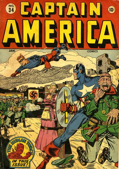 Cover for Captain America Comics (Marvel, 1941 series) #34