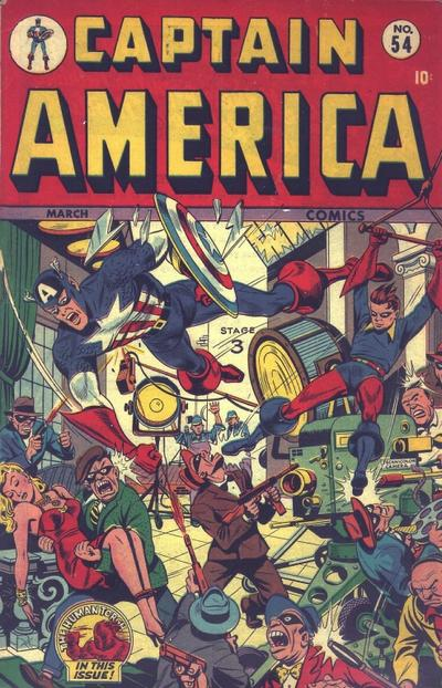 Cover for Captain America Comics (Marvel, 1941 series) #54