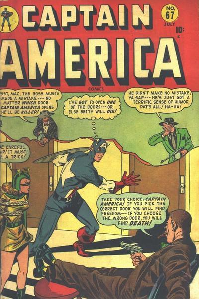 Cover for Captain America Comics (Marvel, 1941 series) #67