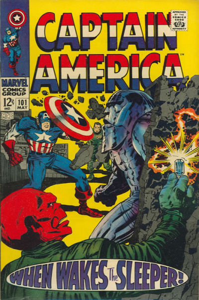 Cover for Captain America (Marvel, 1968 series) #101