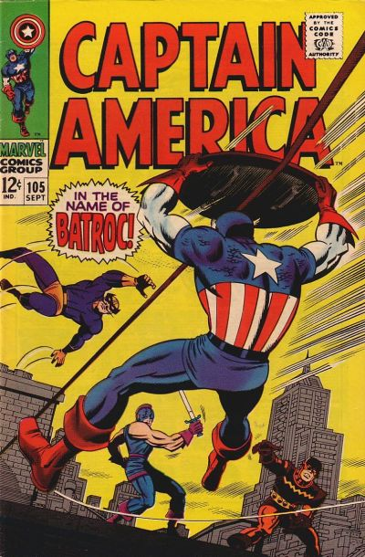 Cover for Captain America (Marvel, 1968 series) #105