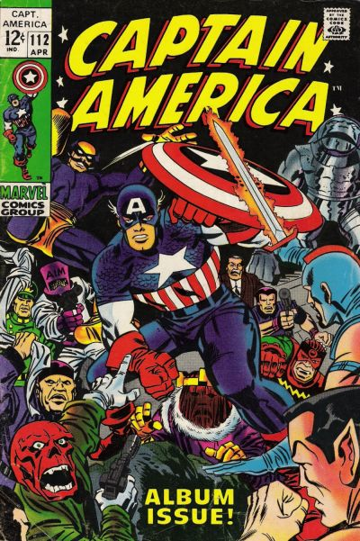 Cover for Captain America (Marvel, 1968 series) #112