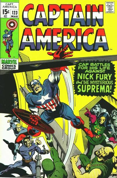 Cover for Captain America (Marvel, 1968 series) #123