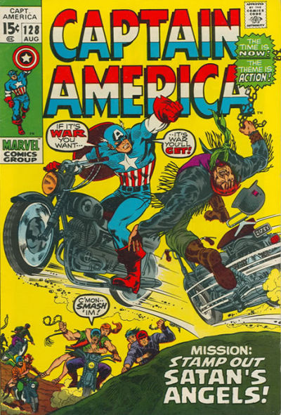 Cover for Captain America (Marvel, 1968 series) #128