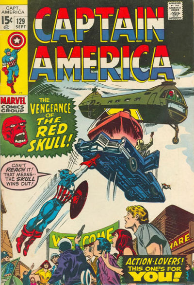 Cover for Captain America (Marvel, 1968 series) #129