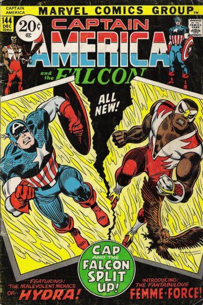 Cover for Captain America (Marvel, 1968 series) #144
