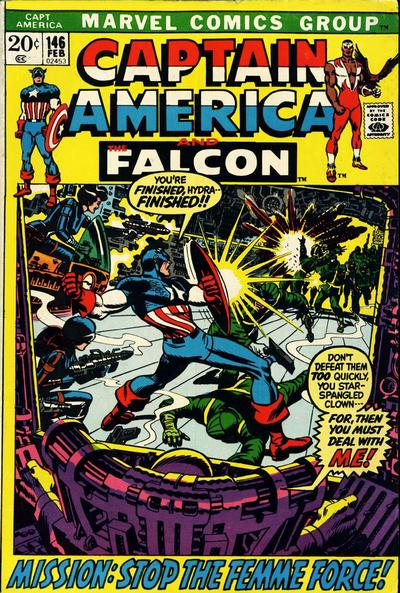 Cover for Captain America (Marvel, 1968 series) #146
