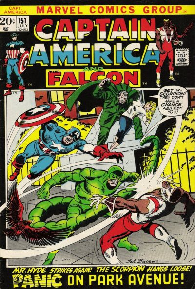 Cover for Captain America (Marvel, 1968 series) #151