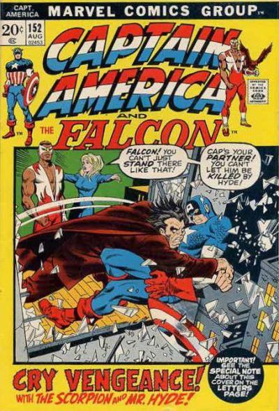 Cover for Captain America (Marvel, 1968 series) #152 [Regular Cover]