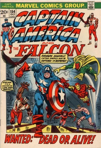 Cover for Captain America (Marvel, 1968 series) #154