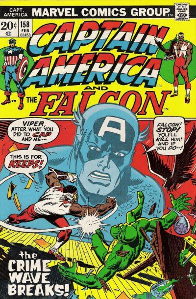 Cover for Captain America (Marvel, 1968 series) #158