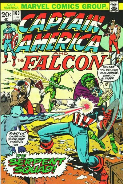 Cover for Captain America (Marvel, 1968 series) #163 [Regular Edition]