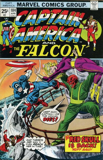 Cover for Captain America (Marvel, 1968 series) #184 [British]