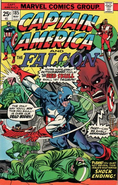 Cover for Captain America (Marvel, 1968 series) #185