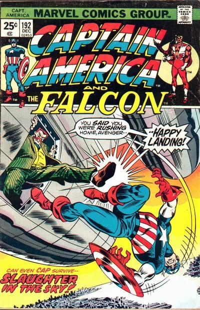 Cover for Captain America (Marvel, 1968 series) #192 [British Price Variant]