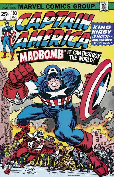 Cover for Captain America (Marvel, 1968 series) #193 [British]