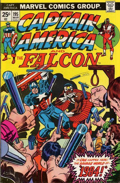 Cover for Captain America (Marvel, 1968 series) #195 [British Price Variant]