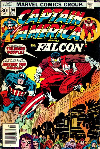 Cover for Captain America (Marvel, 1968 series) #201 [British Price Variant]