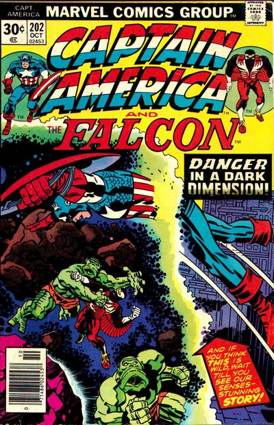 Cover for Captain America (Marvel, 1968 series) #202 [Regular Edition]