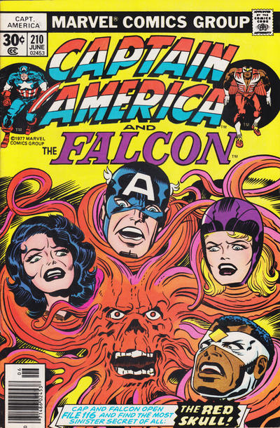 Cover for Captain America (Marvel, 1968 series) #210 [British Price Variant]