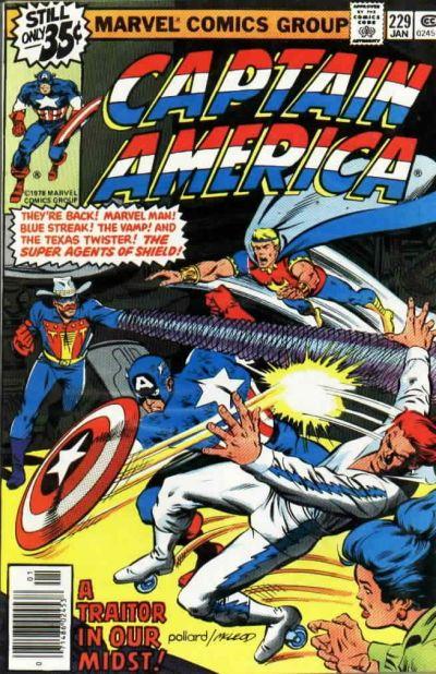 Cover for Captain America (Marvel, 1968 series) #229 [Regular Edition]