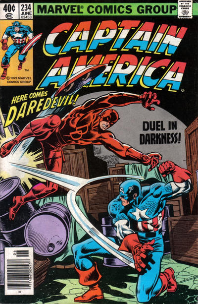 Cover for Captain America (Marvel, 1968 series) #234 [British Price Variant]