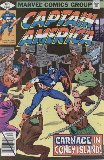 Cover for Captain America (Marvel, 1968 series) #240 [Direct Edition]