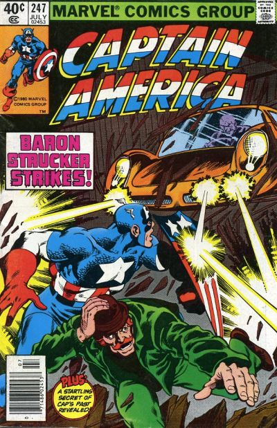 Cover for Captain America (Marvel, 1968 series) #247 [British Price Variant]